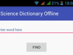 Science Dictionary Offline 1.0 Screenshot