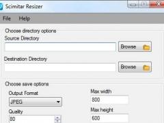Scimitar Batch Image Resizer 3.2 Screenshot