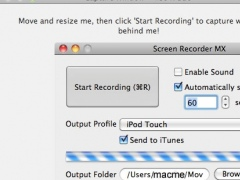 Screen Recorder MX 1.00 Screenshot