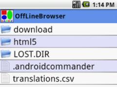 SD Card Offline HTML Browser 2 Screenshot