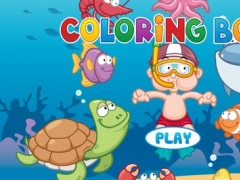 Sea Animals Coloring Book - Painting Game for Kids 1.3 Screenshot