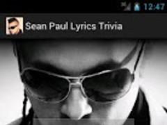 Sean Paul Lyrics Trivia 1.0 Screenshot