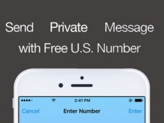 Secret Text & SMS - Send Private Message from a US Phone Number 1.0 Screenshot