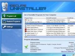SecureUninstaller 3.0 Screenshot