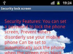 Security lock screen 1.0 Screenshot