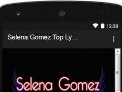 Selena Gomez Top Lyrics 1.0 Screenshot