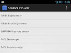 Sensors Explorer 1.0 Screenshot