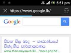 SETT Sinhala Tamil web browser 4.0.5 Screenshot