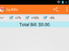 SG Bills Calculator 3.0.2 Screenshot