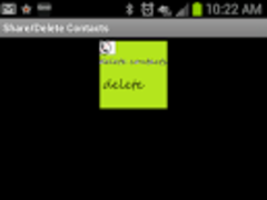 share/delete contacts 1.5 Screenshot