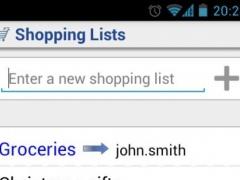 Shared Shopping List 1.5 Screenshot