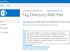 SharePoint Tag Directory Web Part 2.6 Screenshot