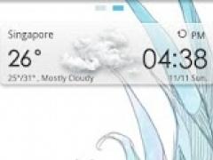 Sharp Blue - GO Launcher Theme  Screenshot