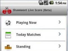 Shawweet Football Soccer Live 1.2 Screenshot