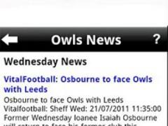 Sheffield Wednesday News 1.4.3 Screenshot