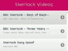 Sherlock TV BBC Drama Video 1.2 Screenshot