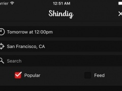 Shindig – An event discovery app 0.2.1 Screenshot