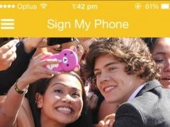 Sign My Phone 1.3 Screenshot