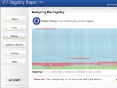Simnet Registry Defrag 2011 3.1.3.2 Screenshot