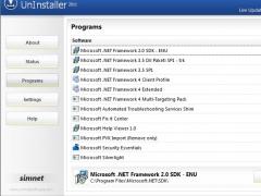 Simnet UnInstaller 2011 3.1.2.3 Screenshot