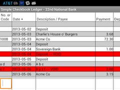 simple checkbook ledger 34 screenshot