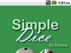 Simple Dice Free  Screenshot