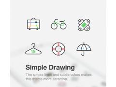 Simple Drawing dodol theme 4.3 Screenshot