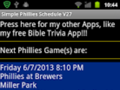 Simple Phillies Schedule 27 Screenshot