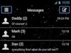 Simple Sky Star GO Sms Theme 1.0 Screenshot