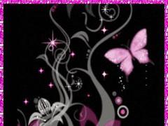 Simply Pink Butterfly LWP 1.1 Screenshot