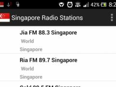 Singapore Radio Stations 1.0 Screenshot
