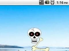 Skull Clock Widget 2x2 1.0 Screenshot