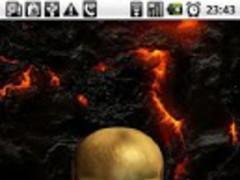 Skull in Fire 3D Interactive 1.5 Screenshot