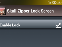 Skull Zipper Lock Screen 1.0 Screenshot