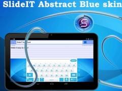 SlideIT Abstract Blue Skin 4.0 Screenshot