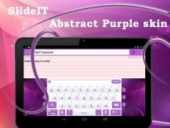 SlideIT Abstract Purple Skin 4.0 Screenshot