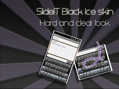 SlideIT Black Ice Skin 4.0 Screenshot