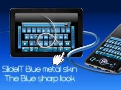 SlideIT Blue Metal Skin 4.0 Screenshot