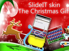 SlideIT Christmas Gift Skin 4.0 Screenshot