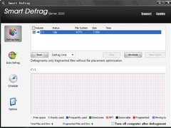 Smart Defrag Server 2010 Trial 1.45 Screenshot