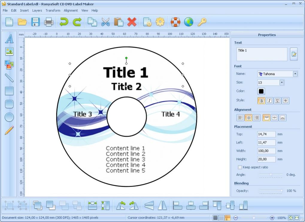 free cd dvd label maker software download