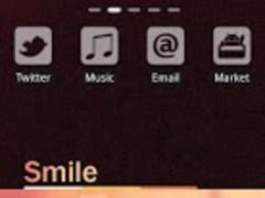 Smile Theme GO LauncherEX 1.3 Screenshot