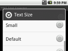 SMS/Talk Text Enlarger 1.2 Screenshot