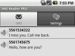 SMS Reader PRO 1.4 Screenshot
