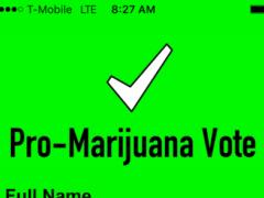 Snap.Vote App Pro-Marijuana 1.0 Screenshot