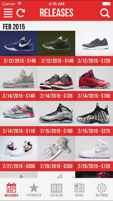 Sneaker Crush Pro - Release Dates for