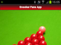 Snooker Fans App 1.03 Screenshot