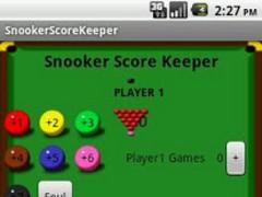 Snooker Score Keeper 1.02 Screenshot