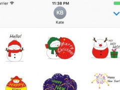 Snow Christmas Stickers 1.0 Screenshot