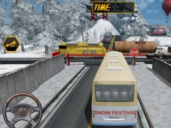 Snow Festival Hill Tourist Bus 1.4 Screenshot